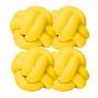 Kit 4 Almofadas De Nó Escandinavo Decorativa Para Sofá E Cama Nozinho Amarelo Casa Dona