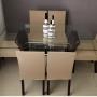 Kit 4 Capas De Cadeira De Jantar Lisa Malha Gel Anti Suor Com Elástico Bege Casa Dona