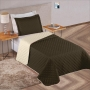 Kit: Cobre Leito Solteiro + Porta Travesseiro Dupla Face em 5 Cores - Casa Dona