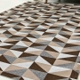 Tapete Roma Sala Quarto Antiderrapante Geométrico Casa Dona 132x200