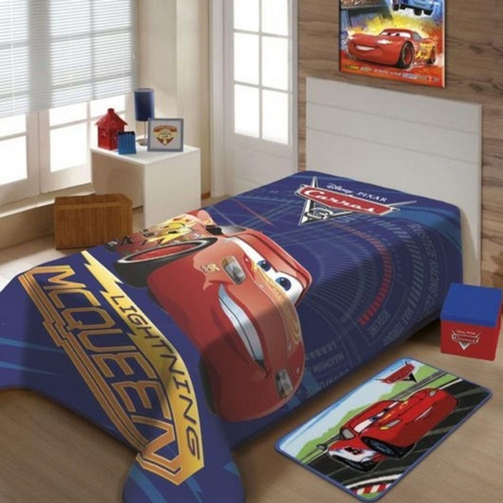 Cobertor Disney Carros Infantil 150x200cm Azul Casa Dona