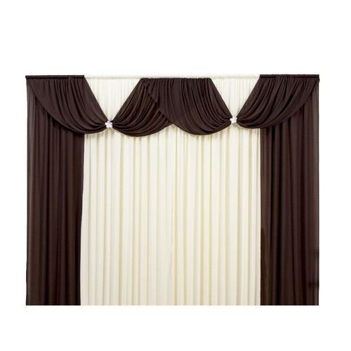 Cortina Casa Dona Luxo Floripa Marrom com Bege 400x280 cm
