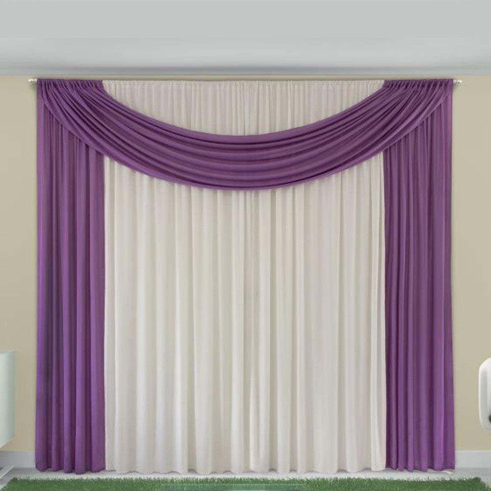 Cortina de Malha Corta Luz para Sala e Quarto Luxo Rose  Casa Dona