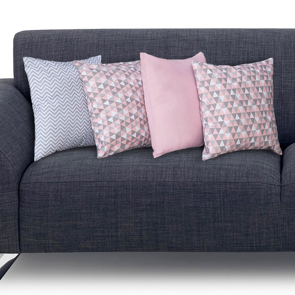 Kit 4 Almofadas de Sofá/Cama Decorativa Conforto Casa Dona