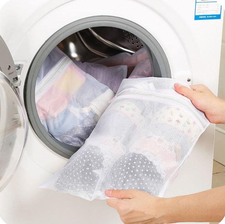 Saco Para Lavar Roupas com Zíper + Tela Protetora - Casa Dona