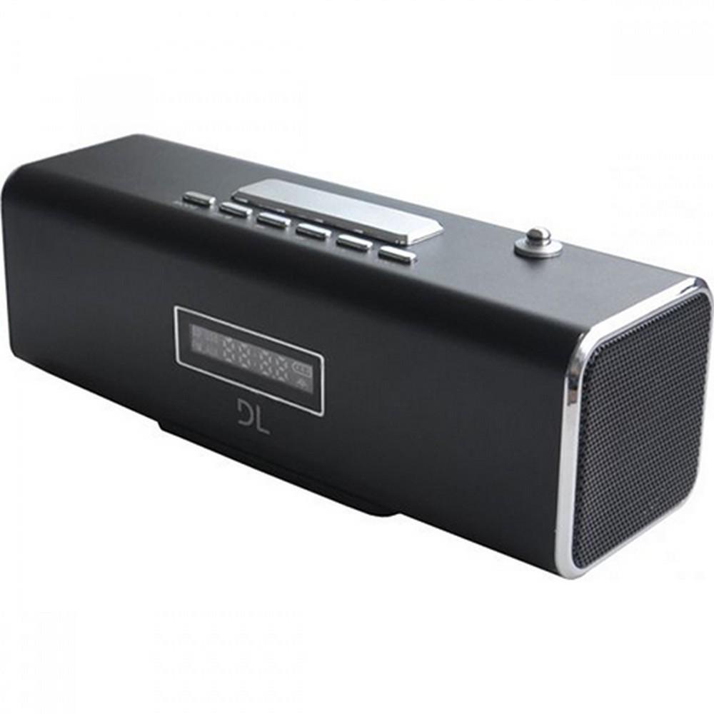 Som Portátil MP3 DL MS30 com Rádio FM e Despertador Preto