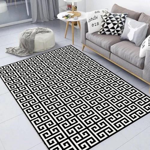 Tapete Maze Labirinto Geométrico para Sala Casa Dona