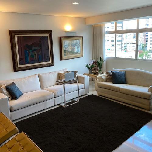 Tapete para Sala e Quarto Felpudo Sedoso 200 x 300 cm Casa Dona