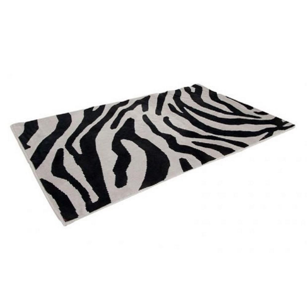 Tapete Zebra Safari 1,40Mx2,00M Prata Casa Dona