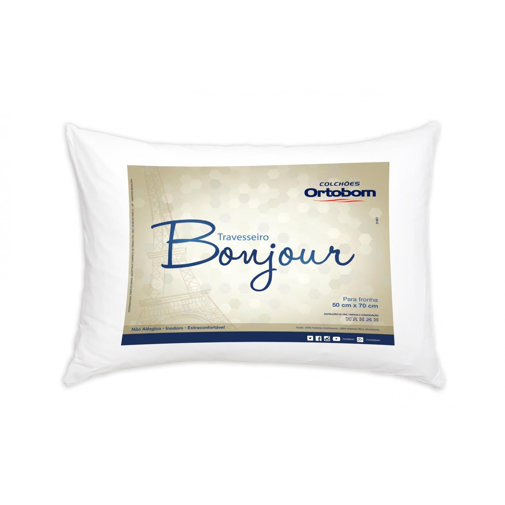 Travesseiro Antialérgico e Antiácaro Bonjour Ortobom