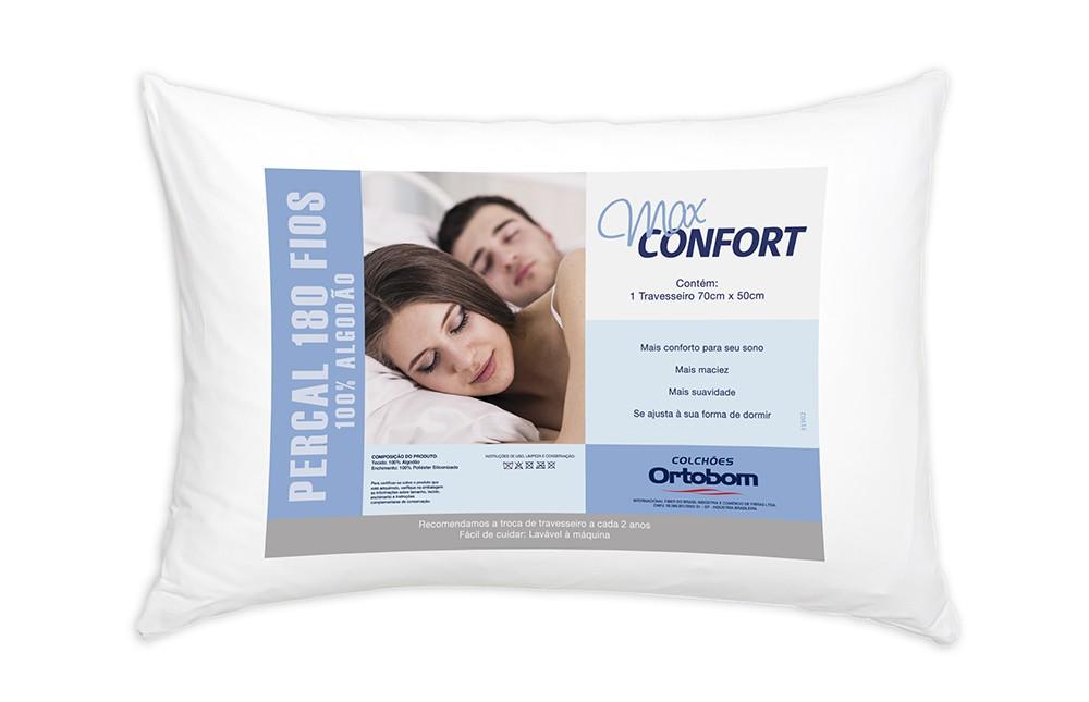 Travesseiro Antialérgico E Antiácaro 100% Algodão Max Confort Casa Dona