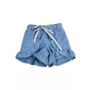 Short Bossa Azul Infantil com babado