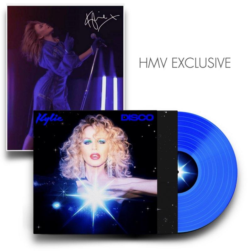 Kylie Minogue - DISCO [Vinil Azul HMV + Foto Autografada] - Edição Limitada