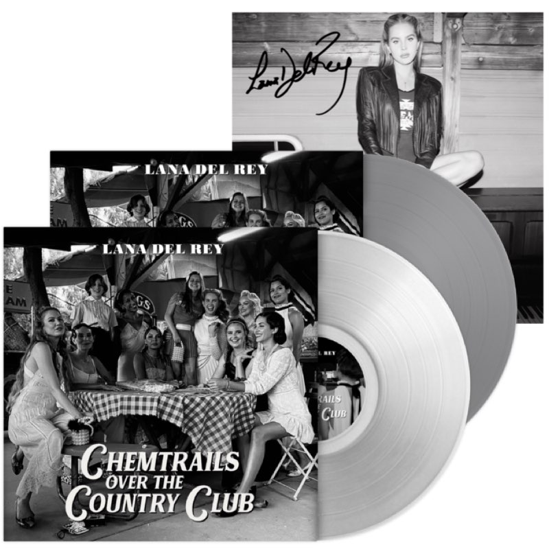 Lana Del Rey - Chemtrails Over the Country Club [BUNDLE Limited Exclusive Edition - Transparent + Grey Vinyl + Signed Litho]