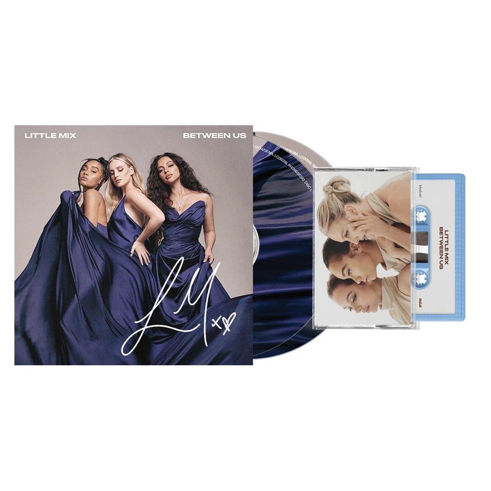 Little Mix - Between Us [Bundle CD Deluxe Autografado + K7 Azul Perrie]