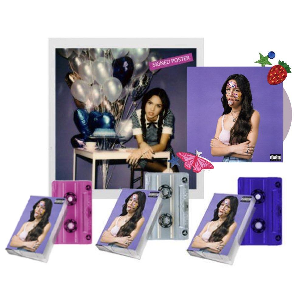 Olivia Rodrigo - Sour [Standard CD + 03 Cassettes (Purple, Pink & Clear) + Pôster Autografado]