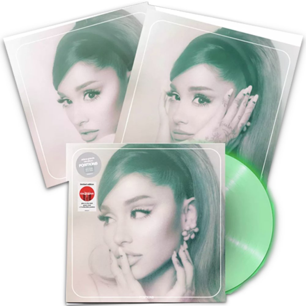 OUTLET - Ariana Grande - Positions [Limited Edition - Glow In The Dark - Target Exclusive] - AVARIA - LEIA A DESCRIÇÃO