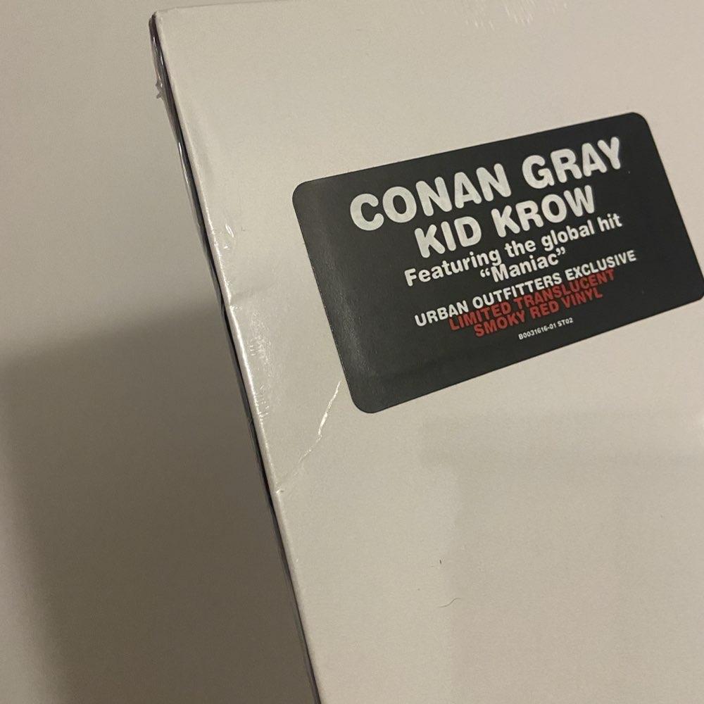 OUTLET: Conan Gray - Kid Krow [Limited Smoky Red Vinyl] - AVARIA - LEIA DESCRIÇÃO