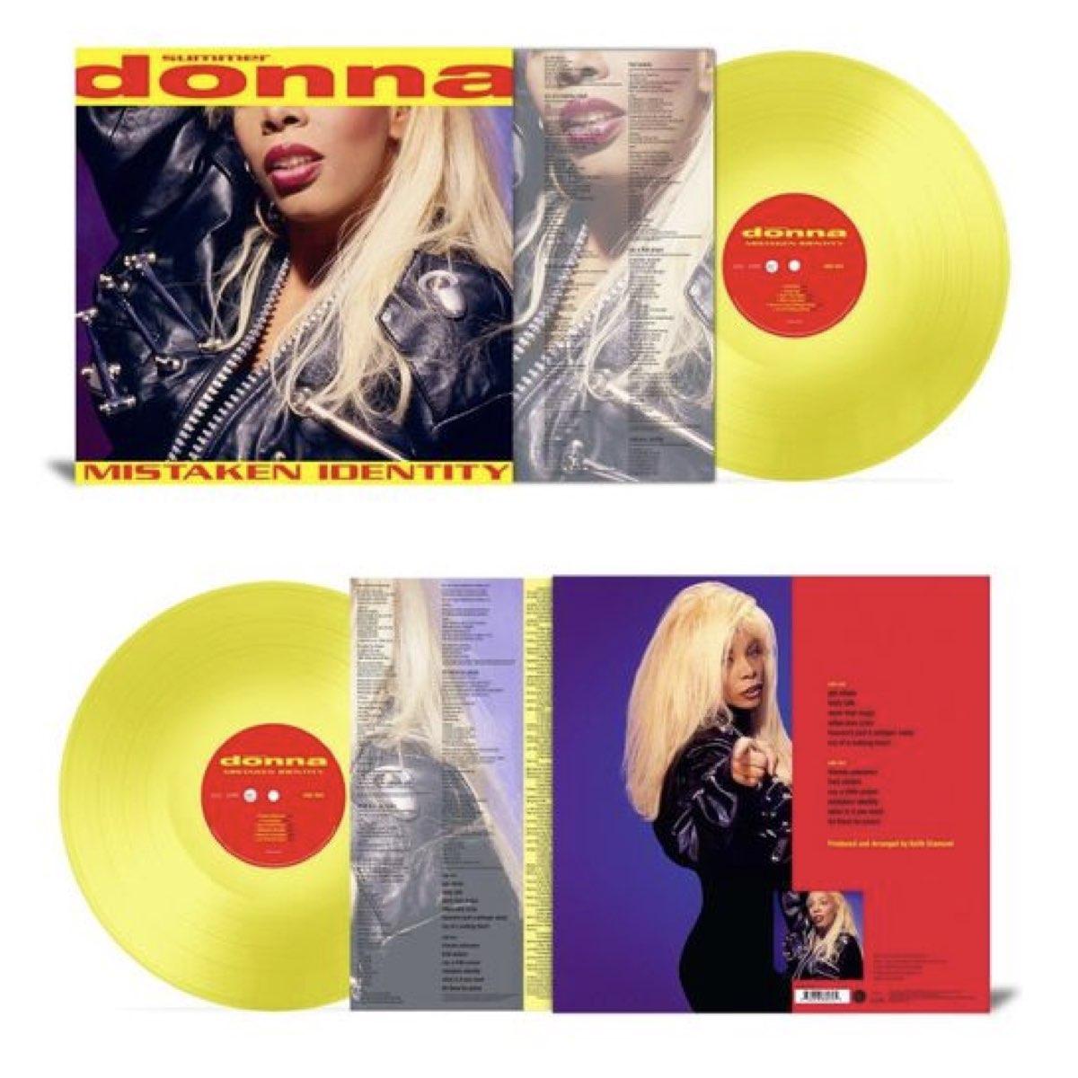 OUTLET - Donna Summer - Mistaken Identity [Translucent Yellow Vinyl] - AVARIA - LEIA A DESCRIÇÃO