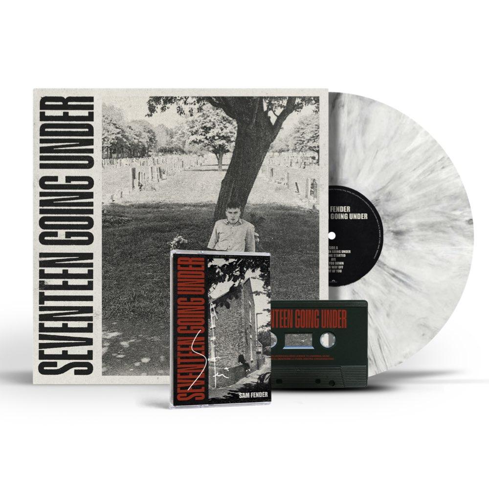Sam Fender - Seventeen Going Under [BUNDLE: White Marbled Vinyl + Signed Cassette]