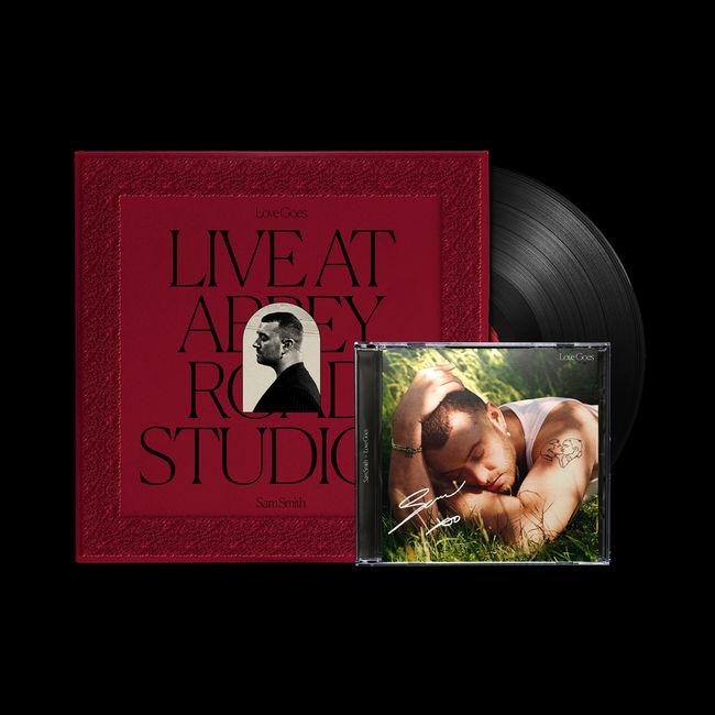 Sam Smith - Love Goes: Live At Abbey Road Studios Vinyl +  Love Goes Signed CD [Bundle Limitado]
