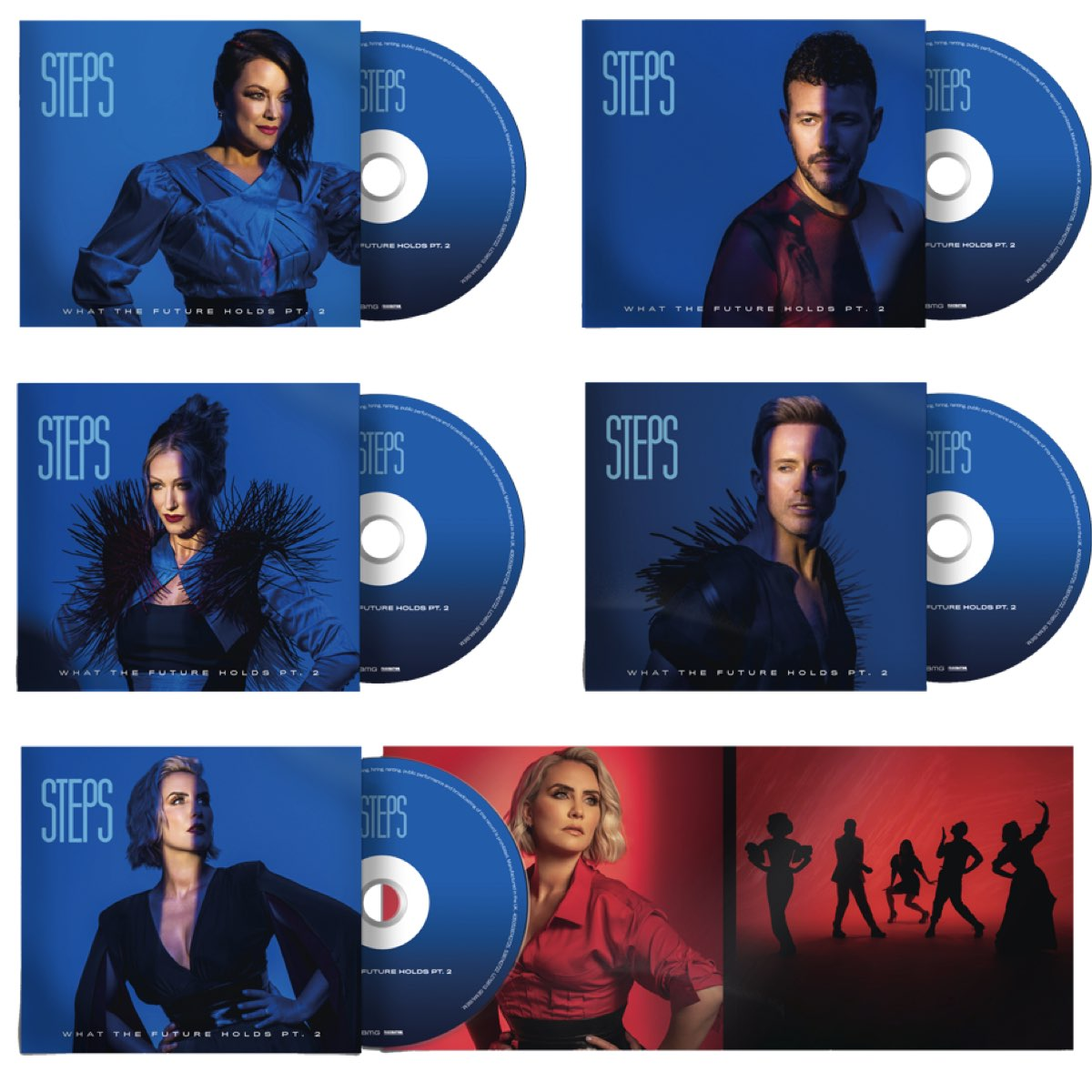 Steps - What The Future Holds PT.2 - [Combo 5 CDS Autografados]