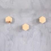 Kit Penduradores em Pinus - Hexagonal