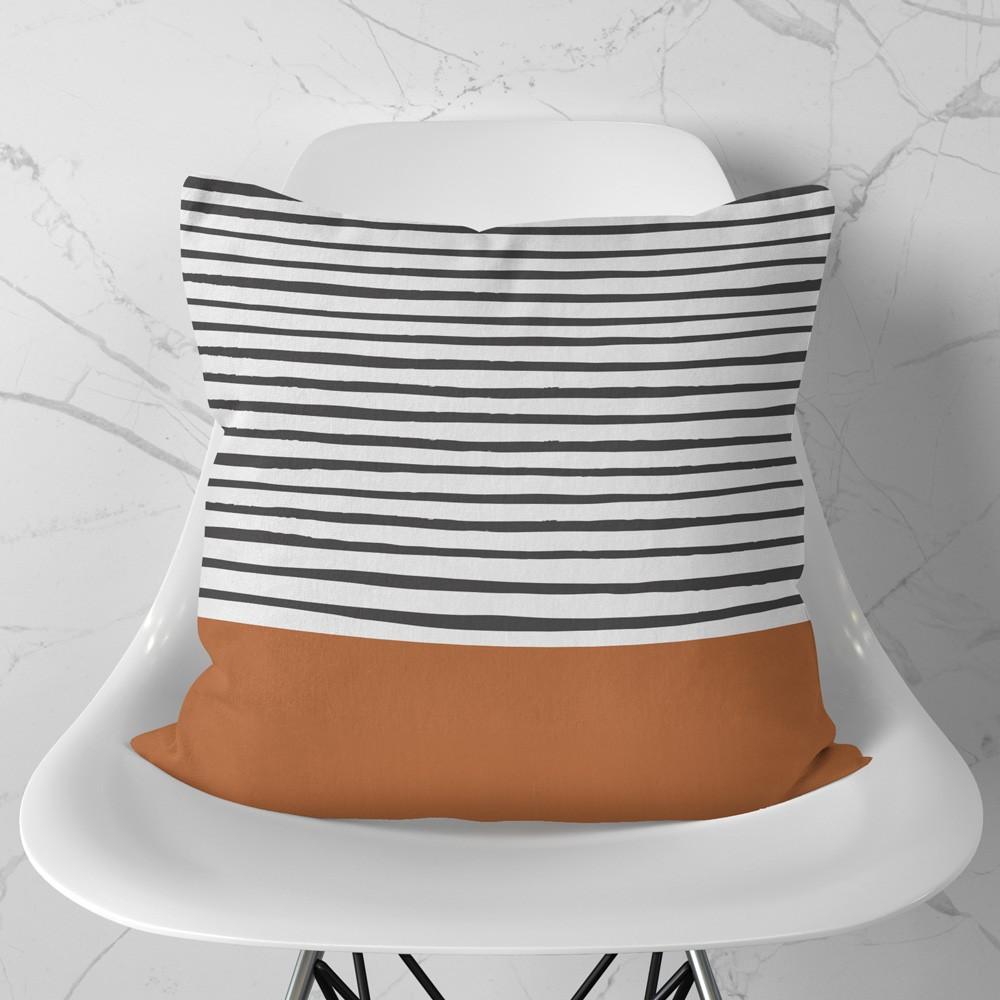 Almofada Stripes Terracota