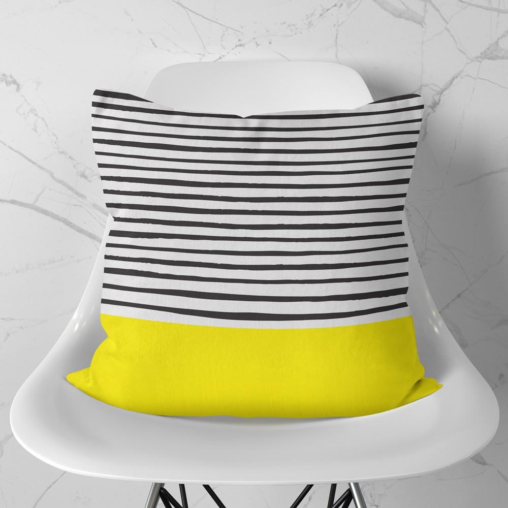 Almofada Stripes Yellow