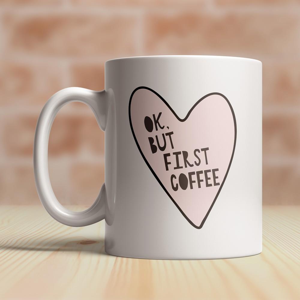 Caneca Ok, but first Coffee
