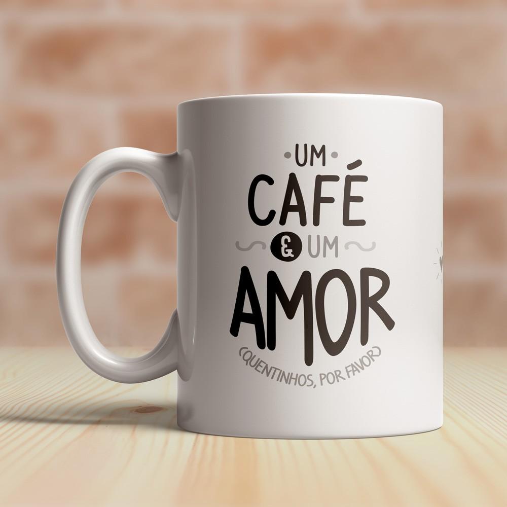 Caneca Um Café e Um Amor