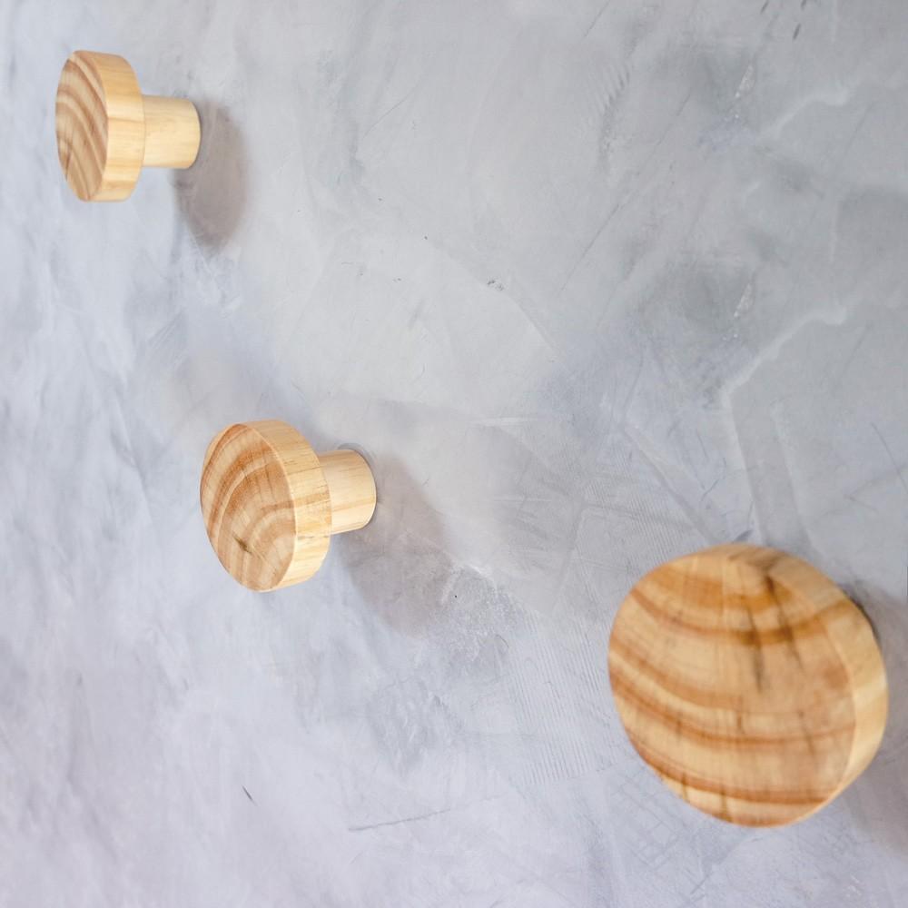 Kit Penduradores em Pinus - Redondo
