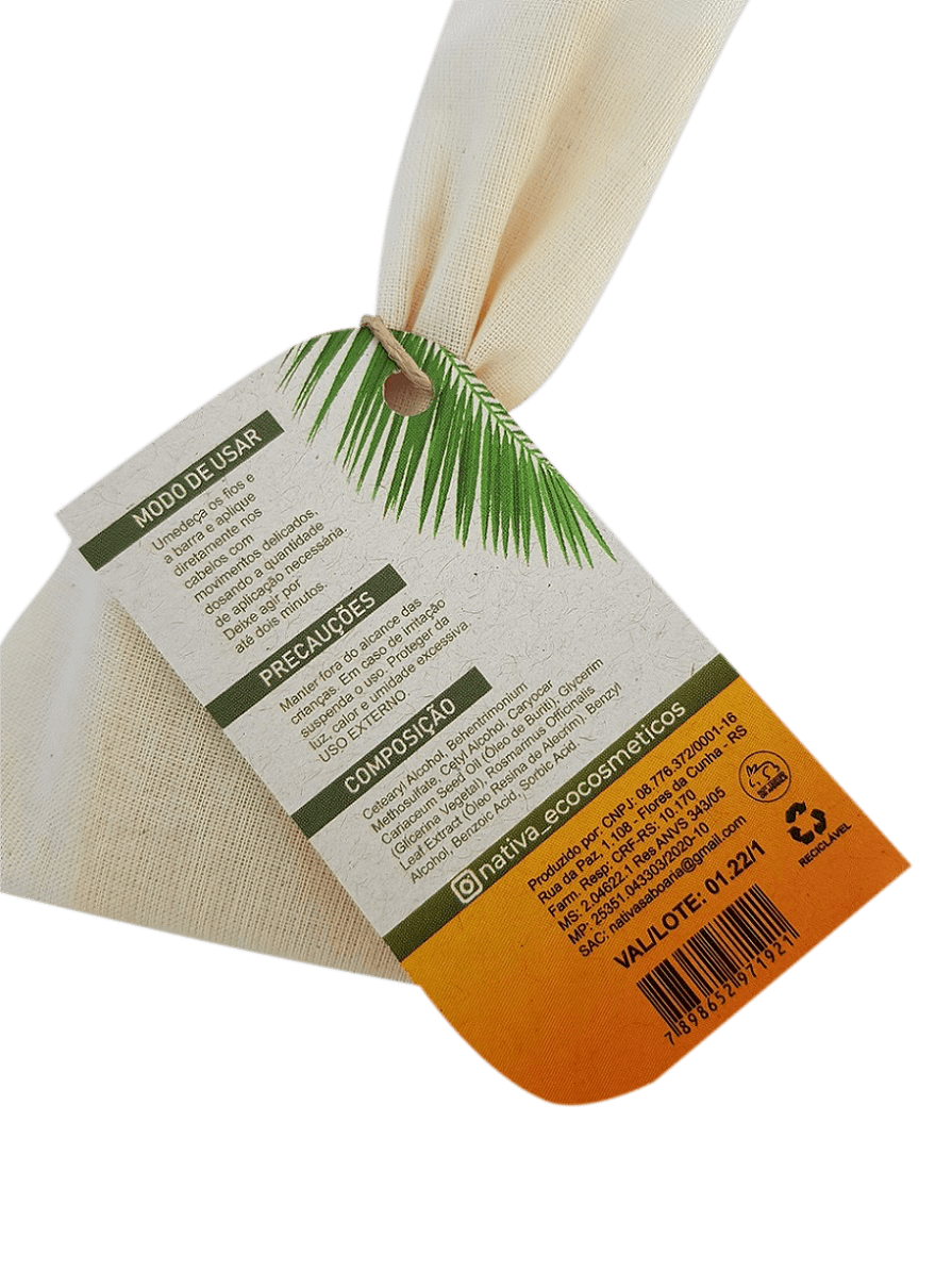 Condicionador Sólido - Pequi e Buriti 50g  - Saboaria Nativa Ecocosméticos