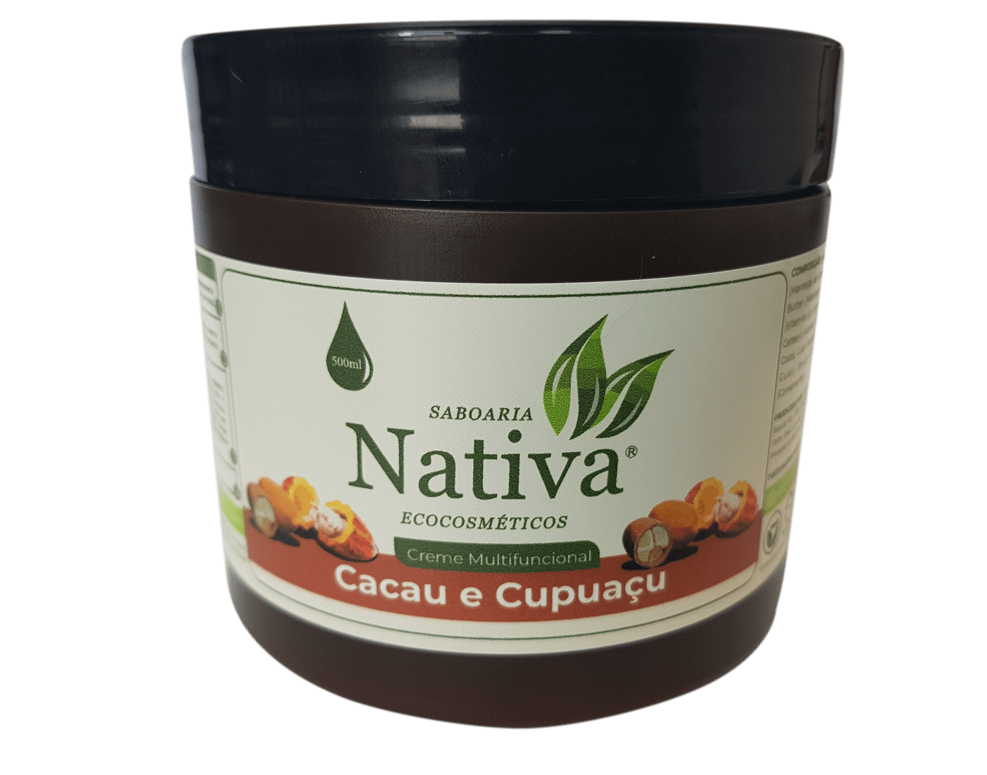 Creme Multifuncional Cacau e Cupuaçu - 500ml  - Saboaria Nativa Ecocosméticos