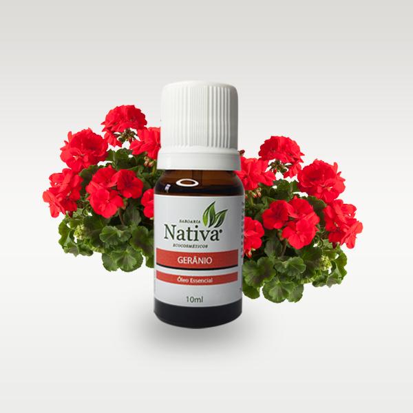 Óleo Essencial  Gerânio 10 ml  - Saboaria Nativa Ecocosméticos