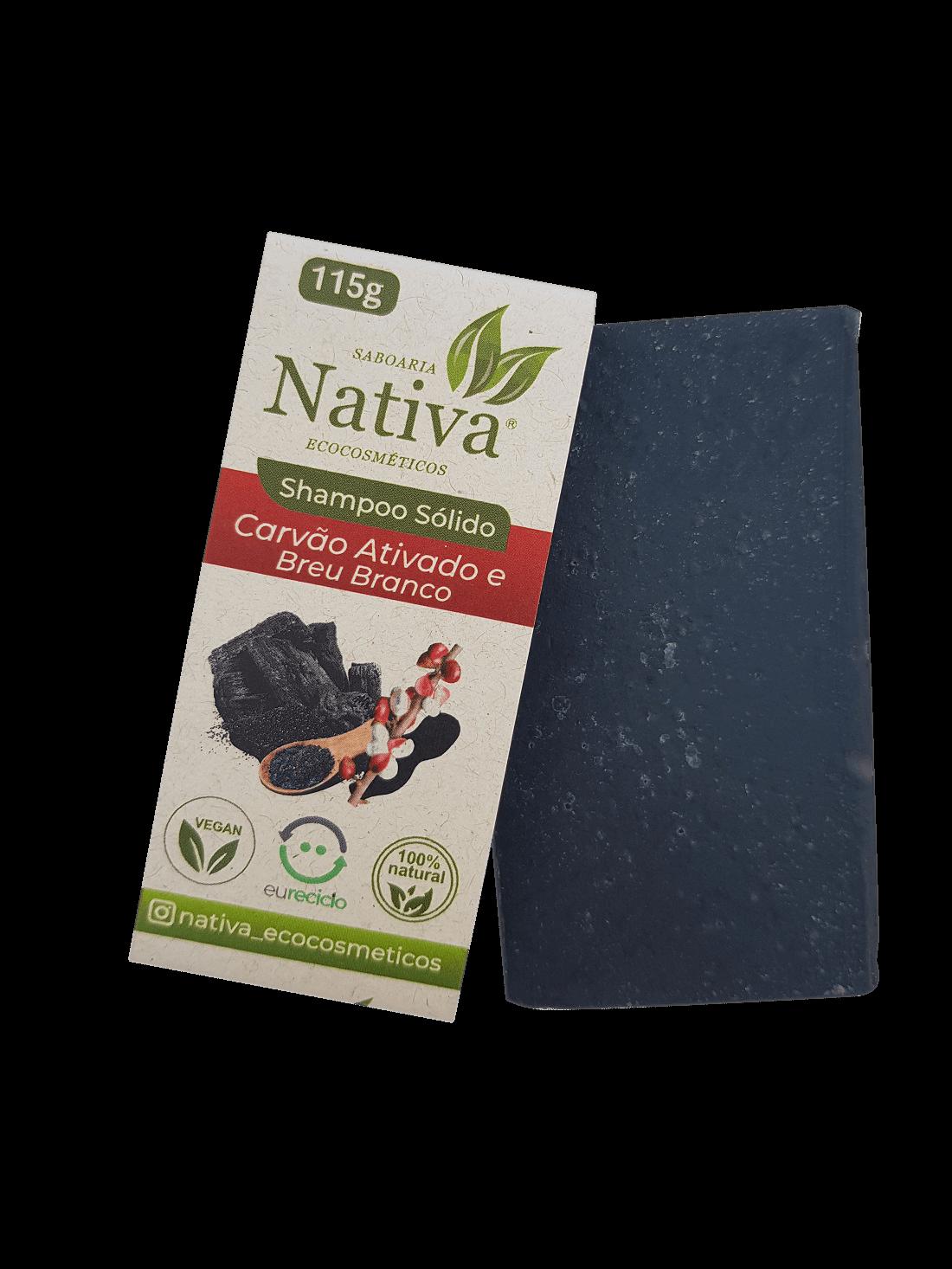 Shampoo Sólido - Carvão Ativado  - Saboaria Nativa Ecocosméticos