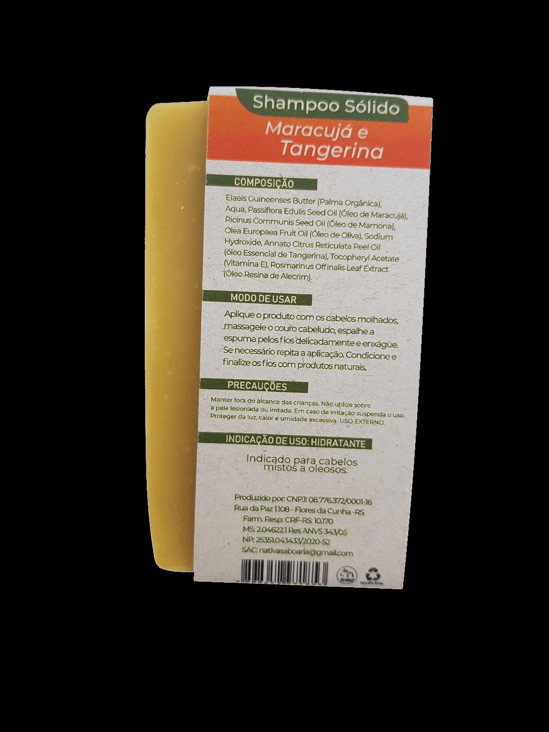 Shampoo Sólido - Maracujá e Tangerina  - Saboaria Nativa Ecocosméticos