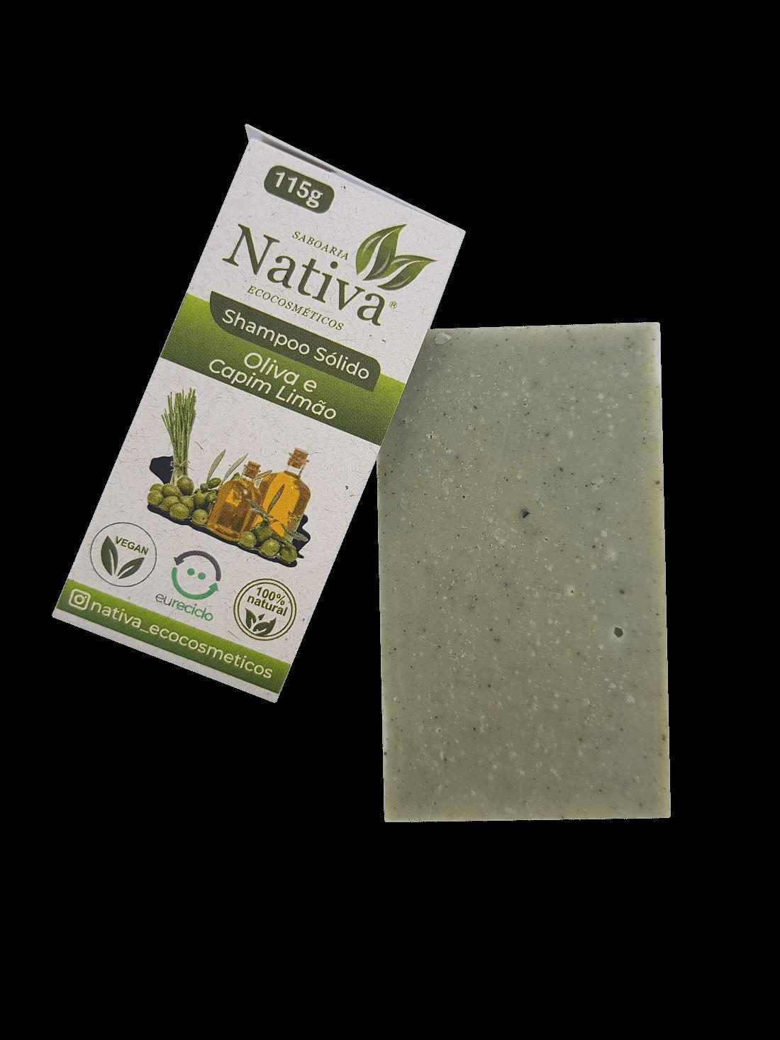 Shampoo Sólido - Oliva e Capim limão  - Saboaria Nativa Ecocosméticos