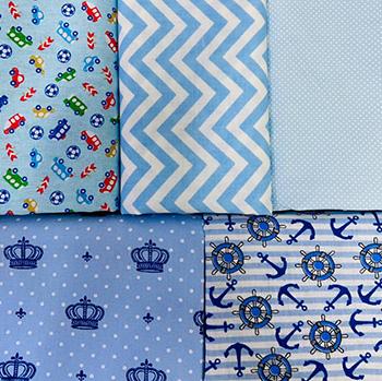 Kit tecido patchwork blue 50x1,50