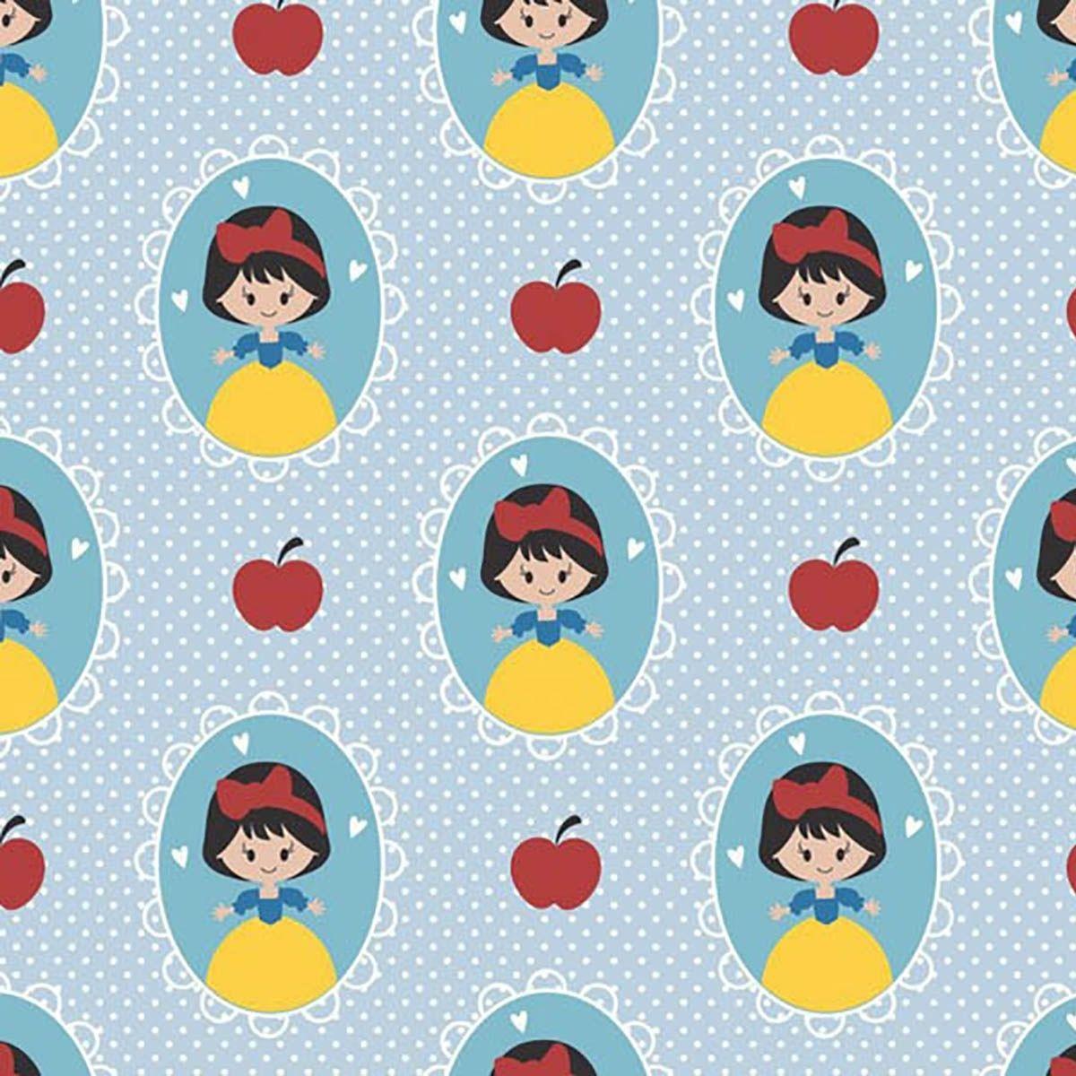Tecido tricoline personagens infantil