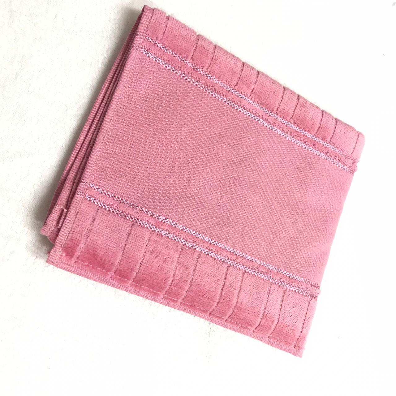 Toalha banho artesanalle rosa