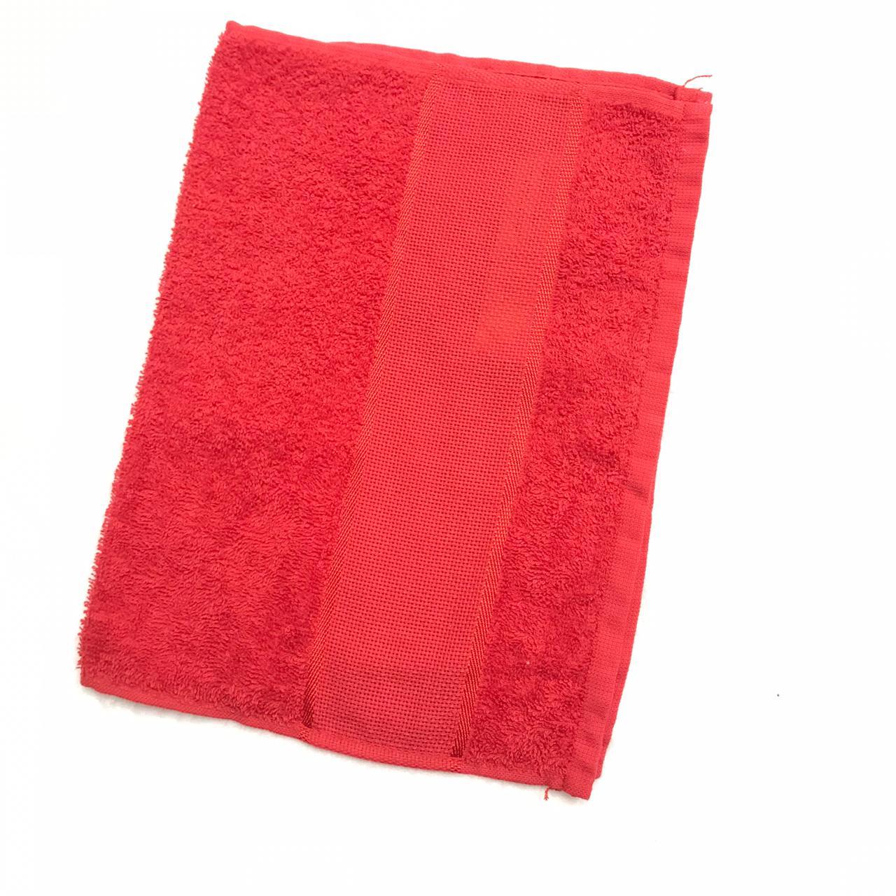 Toalha lavabo torino vermelho 2 un