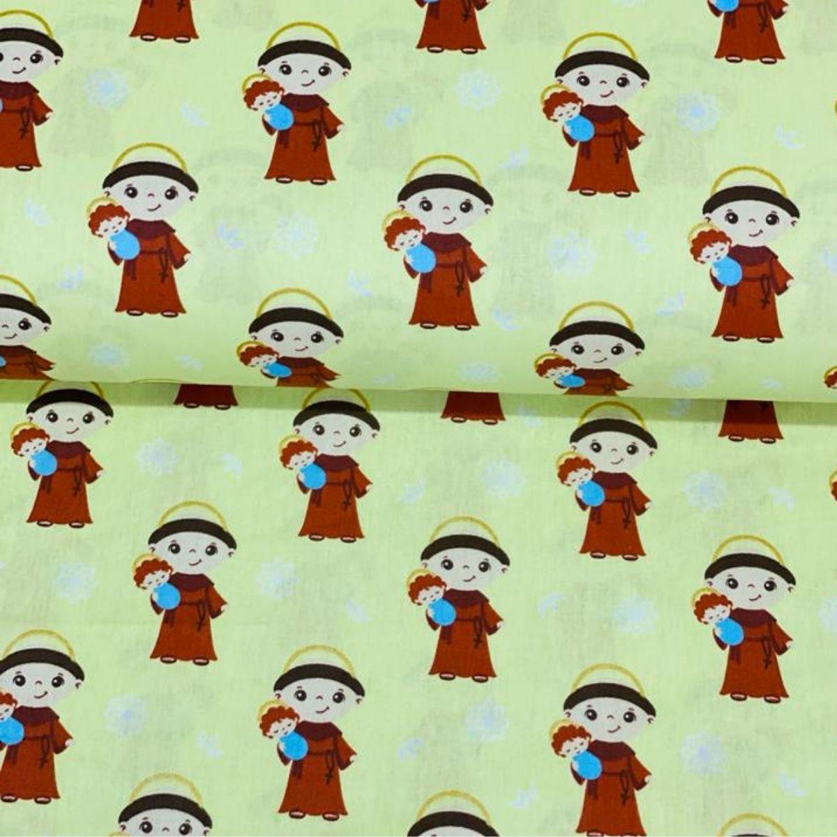 Tricoline artesanato religiosos 100% algodão
