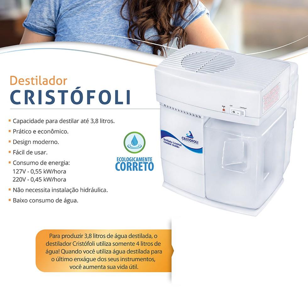 Destilador de Água 220W - Cristófoli