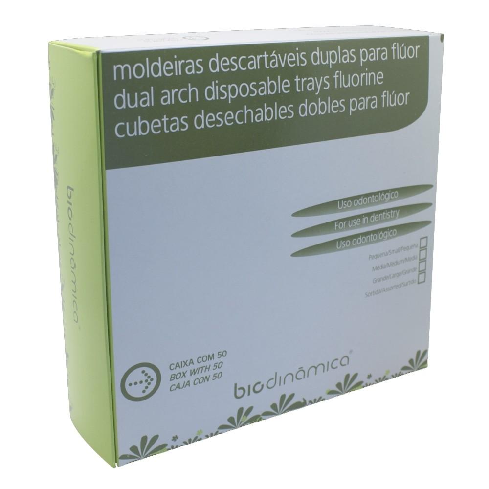 Moldeira Dupla Descartável para Flúor - Biodinâmica