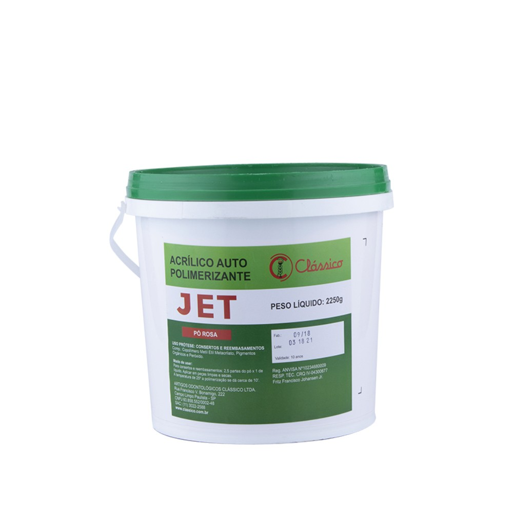 Resina Acrílica Auto Jet Pó 2250 Kg - Clássico