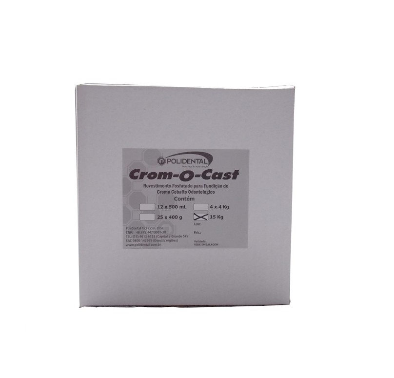 Revestimento Crom-O-Cast 15Kg - Polidental