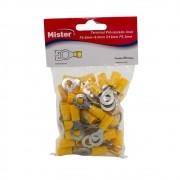 Terminal Anel 6mm isolado Amarelo pacote com 50 Mister