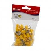 Terminal Garfo 6mm Isolado Amarelo pacote com 50 Mister