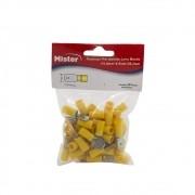 Terminal Luva Macho 6mm Isolado Amarelo pacote com 50 Mister